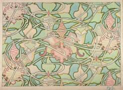 Design pour papier peint (Alfons Mucha) - Muzeo.com