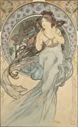 La Musique (Alfons Mucha) - Muzeo.com