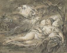 Danaé (François Boucher) - Muzeo.com