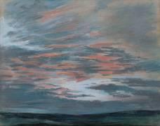 Etude de ciel au soleil couchant (Delacroix Eugène) - Muzeo.com