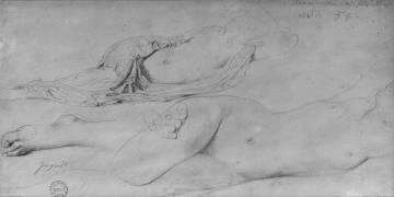 Etude pour l'Odalisque à l'esclave (Ingres Jean-Auguste-Dominique) - Muzeo.com