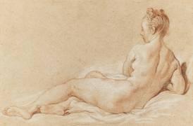 Femme nue couchée, vue de dos (François Boucher) - Muzeo.com