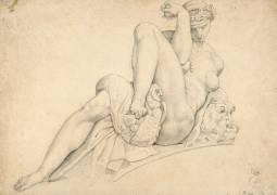 La Nuit, d'après Michel-Ange (Jacques-Edouard Gatteaux) - Muzeo.com