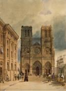 Le parvis de Notre-Dame (Matet Charles Paulin François) - Muzeo.com