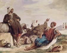 Les muletiers de Tétouan (Delacroix Eugène) - Muzeo.com