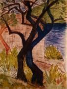 Arbres avant un Pont (Otto Mueller) - Muzeo.com