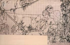 Couple de l'antiquité (Mucha Alfons) - Muzeo.com