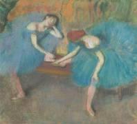 Deux danseuses au repos ou Danseuses en bleu (Degas Edgar) - Muzeo.com
