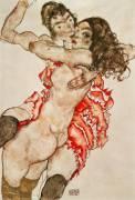 Deux femmes enlacées (Egon Schiele) - Muzeo.com