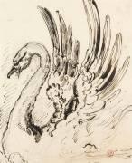 Etude de cygne pour Léda (Gustave Moreau) - Muzeo.com