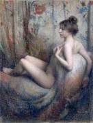 Femme nue assise sur un canapé (Eugène Vidal) - Muzeo.com