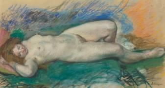 Femme nue couchée (Lebasque Henri) - Muzeo.com