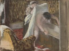 Femme sortant du bain ou Sortie de bain (Degas Edgar) - Muzeo.com