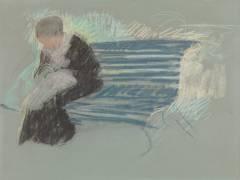 Femme sur un Banc (Mary Cassatt) - Muzeo.com