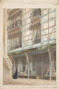 Maisons à pans de fer et revêtement de faïence (Eugène Viollet-Le-Duc) - Muzeo.com
