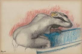 Une femme dans une baignoire, nue de dos (Degas Edgar) - Muzeo.com