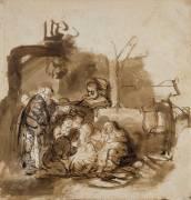Adoration des bergers (Rembrandt Harmensz van Rijn) - Muzeo.com