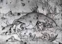 Les gros poissons mangent les petits (Pieter Brueghel le Vieux) - Muzeo.com