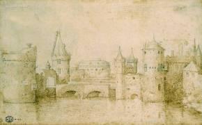 Vue des anciennes fortifications d'Amsterdam (Pieter Brueghel le Vieux) - Muzeo.com