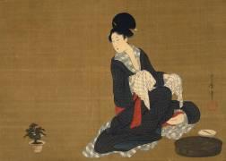 Femme à sa toilette du matin (Kitagawa Utamaro) - Muzeo.com