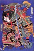 Le guerrier Kengoro (Hokusai) - Muzeo.com