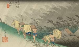 Shôno, pluie d'orage (Hiroshige) - Muzeo.com
