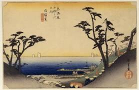 Trente-deuxième relais Shirasuga (Hiroshige) - Muzeo.com