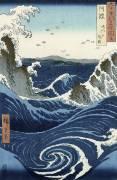 Vue des tourbillons de Naruto à Awa (Hiroshige) - Muzeo.com