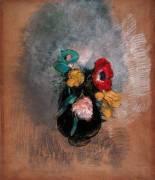 Anémones et Tulipes (Odilon Redon) - Muzeo.com