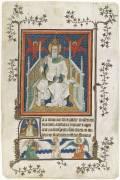 Feuillet de manuscrit représentant Dieu le Père (Anonyme) - Muzeo.com