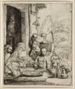Abraham recevant les trois Anges (Rembrandt Harmensz van Rijn) - Muzeo.com