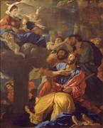 Apparition de la Vierge à saint Jacques le Majeur (Nicolas Poussin) - Muzeo.com