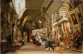 Atelier d'un artiste (Eugène Giraud) (Sébastien Charles Giraud) - Muzeo.com