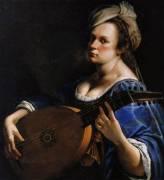 Autoportrait au luth (Artemisia Gentileschi) - Muzeo.com
