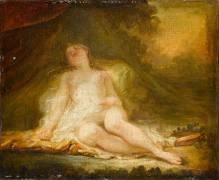Bacchante endormie (Jean-Honoré Fragonard) - Muzeo.com