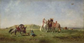 Chasse au faucon, en Algérie (Fromentin Eugène) - Muzeo.com