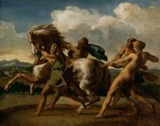Cheval arrêté par des esclaves (Géricault Théodore) - Muzeo.com