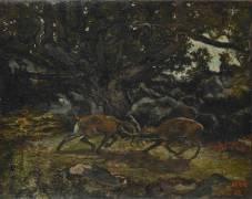 Combat de cerfs (Barye Antoine Louis) - Muzeo.com