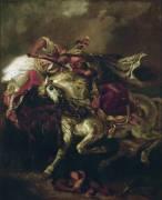 Combat du Giaour et du Pacha (Eugène Delacroix) - Muzeo.com