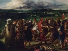 Comédiens ou bouffons arabes (Delacroix Eugène) - Muzeo.com