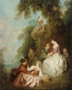 Conversation galante dans un parc (Pater Jean-Baptiste) - Muzeo.com