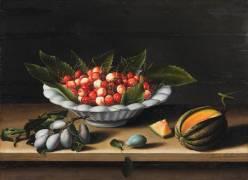 Coupe de cerises, prunes et melon (Moïllon Louise) - Muzeo.com