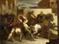 Course de chevaux libres à Rome (Géricault Théodore) - Muzeo.com