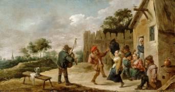 Danse au son de la cornemuse (David Teniers le Jeune) - Muzeo.com