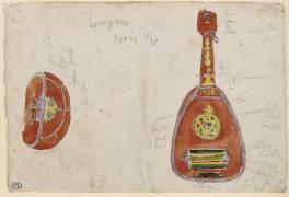 Deux études d'aoud arabe (luth arabe) (Delacroix Eugène) - Muzeo.com