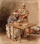 Ecrivain public marocain (Eugène Delacroix) - Muzeo.com