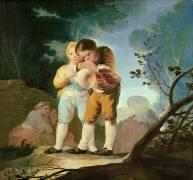 Enfants gonflant une vessie (Francisco de Goya) - Muzeo.com