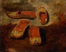 Etude de babouches (Delacroix Eugène) - Muzeo.com