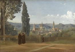 Florence. Vue prise des jardins Boboli (Jean-Baptiste Camille Corot) - Muzeo.com