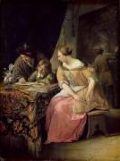 Intérieur avec un Peintre et sa Famille (Jan Steen) - Muzeo.com